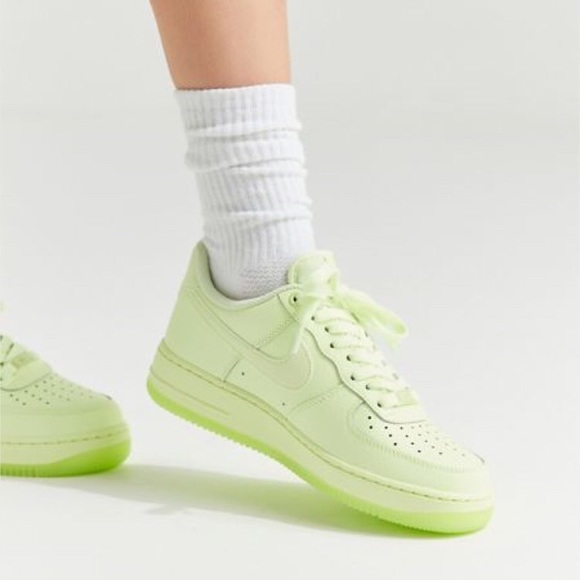 Rare Nike Air Force 1 neon yellow size 7 womens